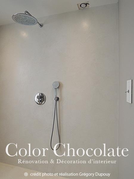 color chocolate l quipe d artisan pl trier peintre b ton cir lyon dispose d un show room. Black Bedroom Furniture Sets. Home Design Ideas