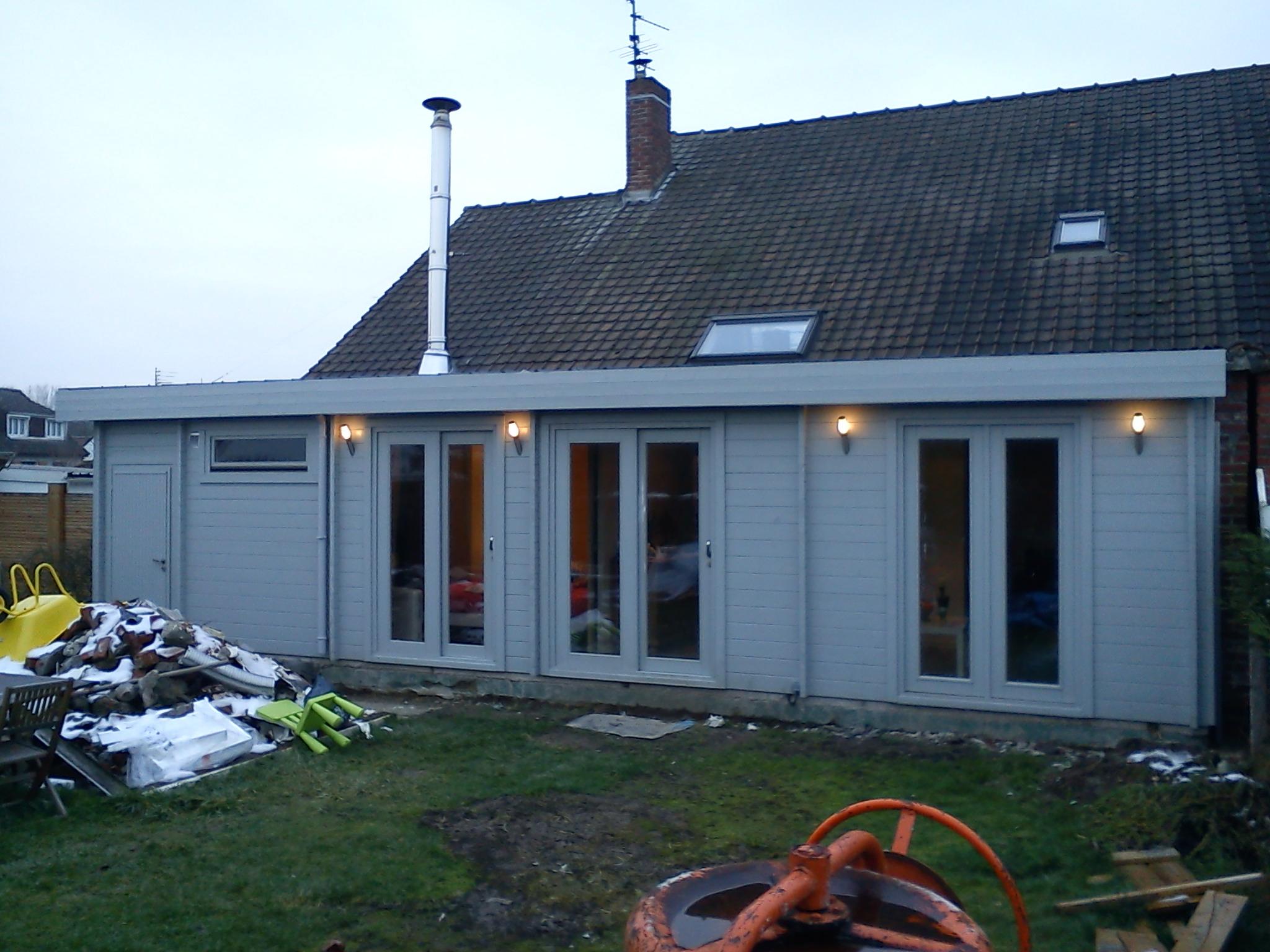 Carport bois yvelines for Extension maison bois yvelines