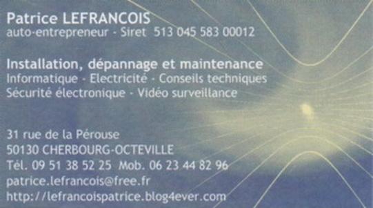 Patrice LEFRANCOIS Installation Et Depannage Motorisation De Portail